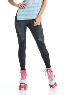 Dark grey fitness leggings - BOTTOM STAY ACTIVE