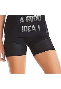 Psntaloncini sportivi neri bi materiale con zip - BOTTOM SUMMER