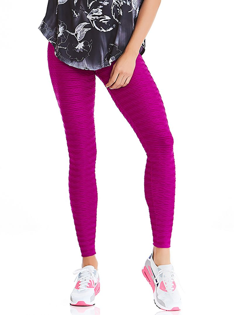 Textures fitness leggings in fuchsia - BOTTOM TEXTURE COAST