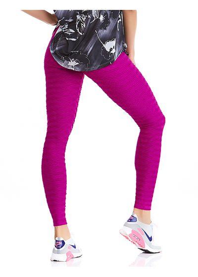 Textures fitness leggings in fuchsia - BOTTOM TEXTURE COAST