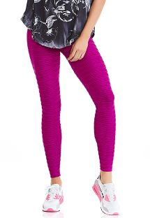 Fitness-Leggings, rosa-fuchsia, Struktur - BOTTOM TEXTURE COAST