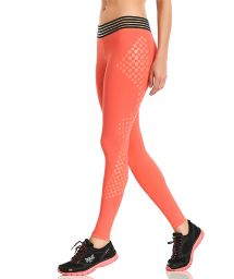 Orange textured fitness leggings - LEGGING HIT