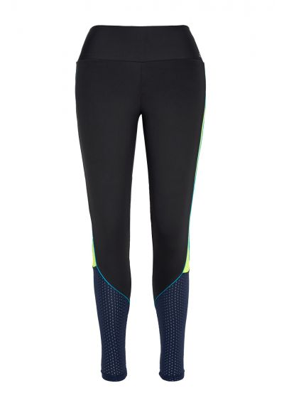Three-coloured workout leggings in breathable fabric - LEGGING NEW ZEALAND