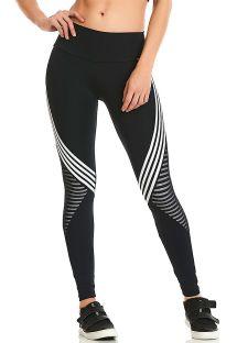 Black fitness leggings contrasting bands - LEGGING ROCK SUNSET