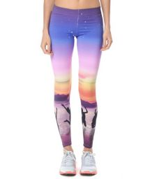 Sunset-print coloured sports leggings - CALCA BENICIA