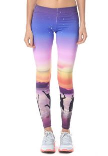 Sunset-print coloured sports leggings - CALCA BENICIA
