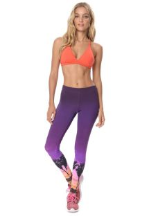 Leggings deportivo morado estampa palmeras  - CALCA SANTA CRUZ