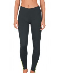 Back zipper pocket bi-material sport legging - GUJANOS