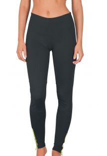 Leggings sport bimateriale, tasca con chiusura lamponella parte posteriore - GUJANOS