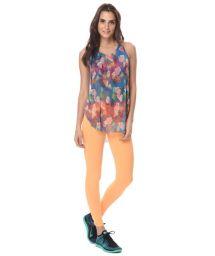 Orange fitness leggings with pineapple detail - LEG  MARICOPA