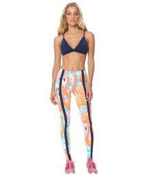 Colourful pink flamingo motif fitness leggings - LEG FOWLER