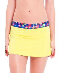 Yellow skort - skirt with integrated shorts - SAIA OJAS RASPA