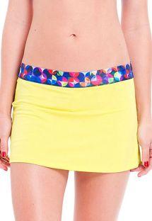 Жълта спортна пола с шорти - SAIA OJAS RASPA