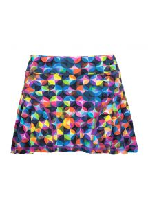 Geometric pattern workout skort (skirt with shorts) - SAIA STELES DOTS