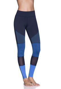 Blue-toned dual-material fitness leggings - BANNER SAPPHIRE EMANA