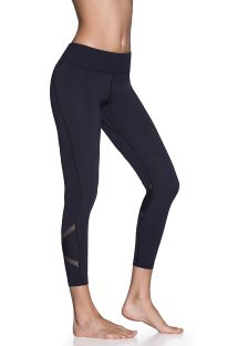 Sport-Leggings, 7/8-lang, Transparenzdetails - DAZEFUL SWITCHBACK BLACK