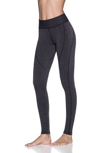 Heather gray topstitched fitness leggings - DAZZLING SPACE DYE PEBBLE
