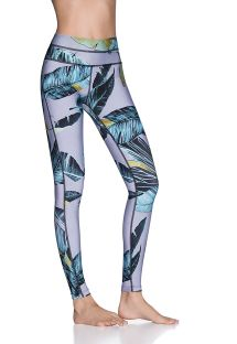 Gemusterte Wende-Fitness-Leggings - DOUBLE DREAM TROPIC