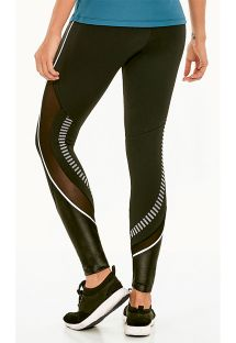 LEGGING ATHLETIC COM RECORTES INSPIRE PRETO