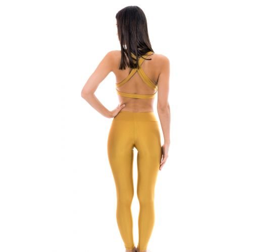 Golden fitness leggings - GOLD LEG