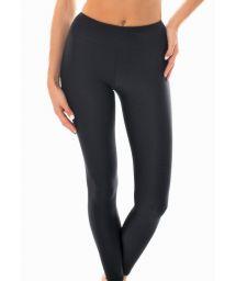 Textured black fabric fitness leggings - LEG DUNA BLACK