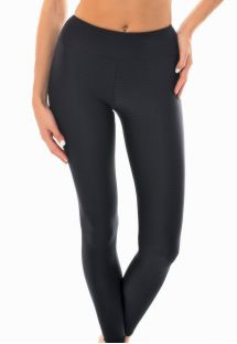 Textured black fabric fitness leggings - LEG DUNA BLACK