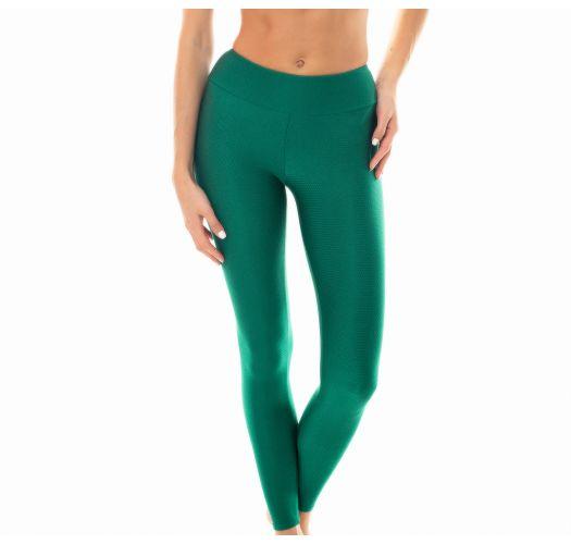 Leggings deportivo texturizado verde - LEG DUNA GREEN