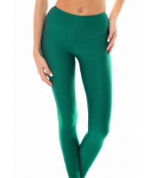 Grønne fitness leggings i tekstureret materiale - LEG DUNA GREEN