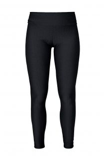 Black textured leggings, perfect for working out or lounging around, with pink logo - LEG FRESH PRETO