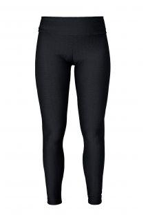Zwarte getextureerde leggings met roze logo - LEG FRESH PRETO