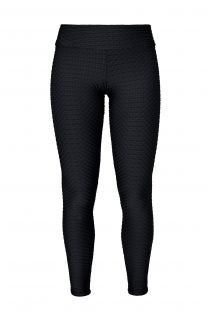 Czarne legginsy do treningu, teksturowane - LEG KRAFT PRETO