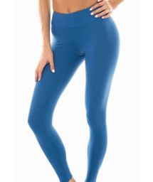 Enfärgade fitness-leggings i denimblå färg - LEG NZ ALPES