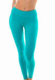 Plain turquoise workout leggings - LEG NZ NANNAI