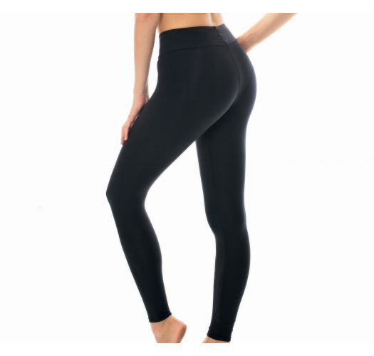 Plain black workout leggings - LEG NZ PRETO