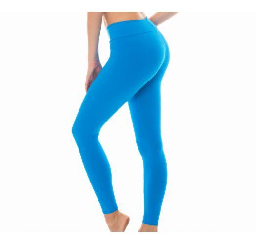 Legging fitness, ensfarget blå - LEG NZ RESORT