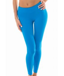 Plain blue workout leggings - LEG NZ RESORT