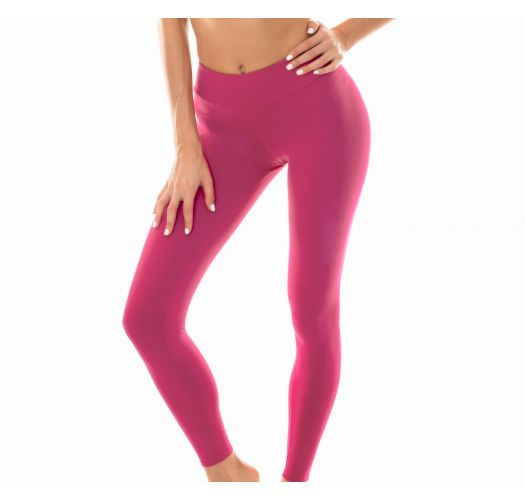 Plain deep pink workout leggings - LEG NZ VITAMINA