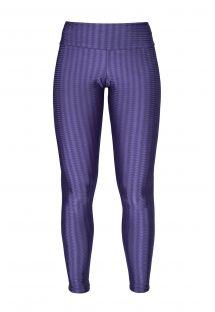 Leggings de fitness violetas texturizadas, brilho - LEG OREGON DUBAI
