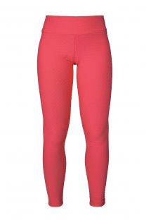 Neon pink textured leggings, ideal for workout or play - LEG PITON GELATINA