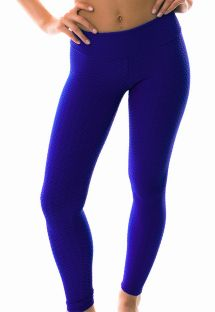 Dark blue textureds fitness leggings - LEG TWIST PLANETARIO