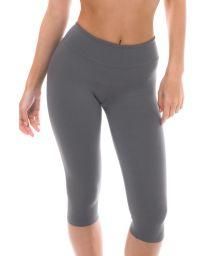 Grey capri length fitness leggings - NZ GRIS CORSARIO