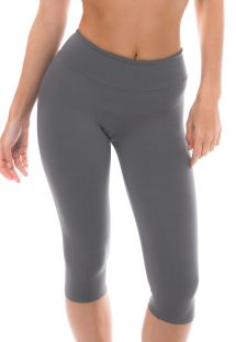 Grey capri length fitness leggings - NZ GRIS CORSARIO
