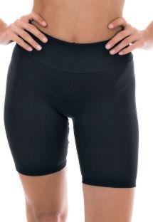 Mid-thigh length black fitness leggings - NZ PRETO BERMUDA