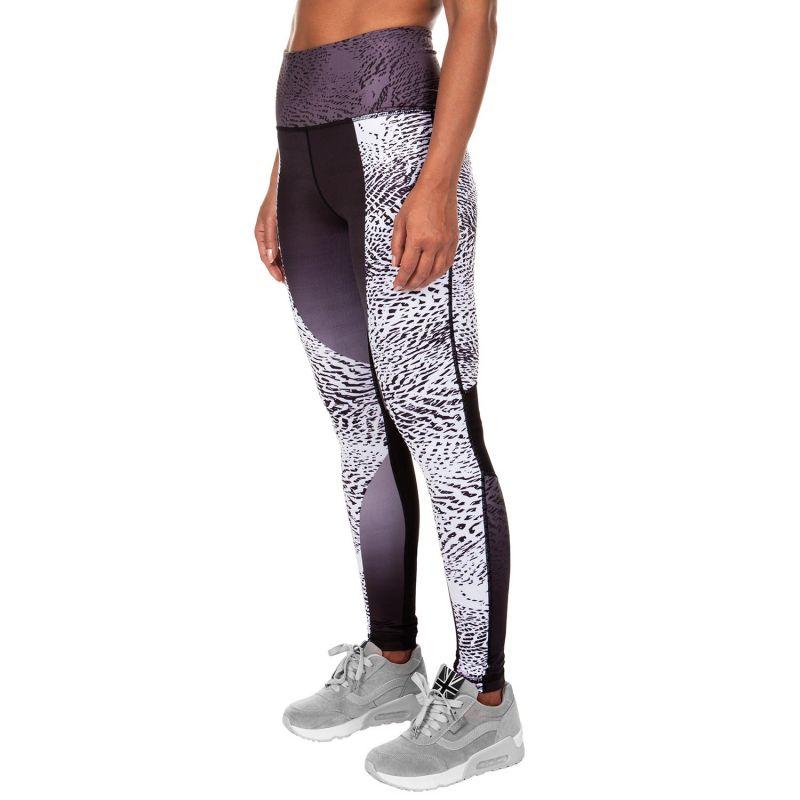Black/printed mixed athletic leggings - DUNE LEGGINGS BLACK