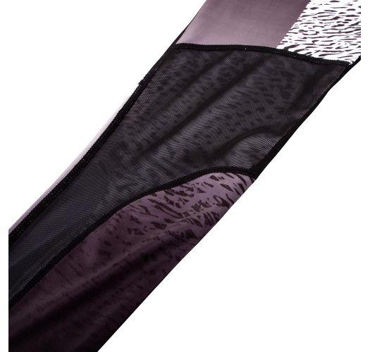 ブラックのミックス柄アスレチックレギンス - DUNE LEGGINGS BLACK