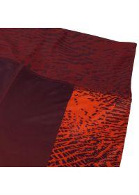 Orange-burgundy mixed athletic capris - DUNE LEGGINGS CROPS ORANGE