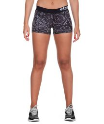 Stretch snake print athletic shorts - FUSION SHORT BLACK