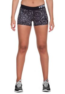 Shorts til sportsbrug med stretch-materiale og slangemønster - FUSION SHORT BLACK