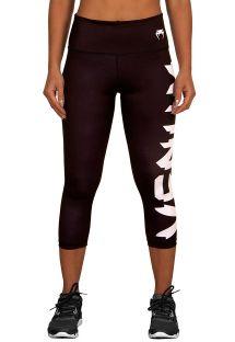 Venum logolu, siyah/beyaz spor korsan pantolonu - GIANT LEGGINGS
