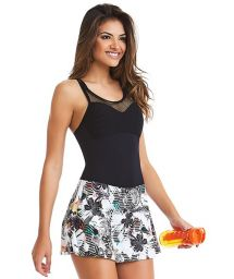 Bi-fabric fitness mini dress with integrated shorts - VESTIDO SOPHI